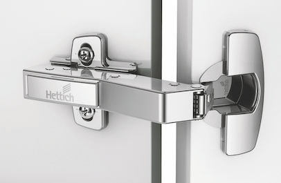 45° Angled Unit Hinge and Adjustable Backplate