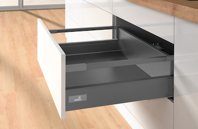 High Sided - Soft Closing - Hettich Drawer - Anthracite