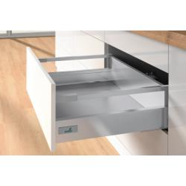 High Sided - Soft Closing - Hettich Drawer - SIlver