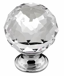 Crystal Knob - 35mm - Chrome