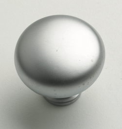 Round Knob - 32mm - Satin Chrome